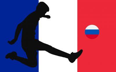 Fußballmeisterschaft 2018 mit les Bleus